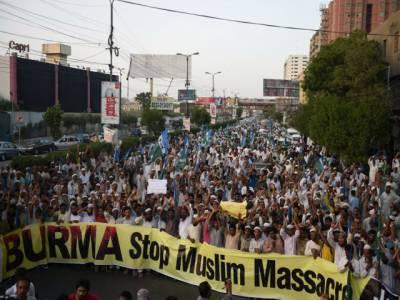ملک بھر میں میانمارکے مسلمانوں سے اظہار یک جہتی کیلئے ریلیوں اور مظاہروں کا سلسلہ جاری