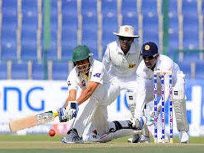 پاکستان اور سری لنکا کے درمیان سیریز کے پہلے ٹیسٹ کا پہلا روز بارش کے باعث منسوخ کرنا پڑا
