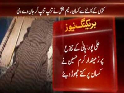 پانی کےتنازع پر زمیندار کرم حسین نے کسان پر کتے چھوڑ دیئے :علی پور