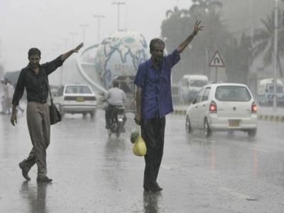 شدید گرمی سے سینکڑوں ہلاکتوں کے بعد قدرت کو بھی ترس آگیا،شہرقائد کے مختلف علاقوں میں تیزہواؤں کے ساتھ بارش
