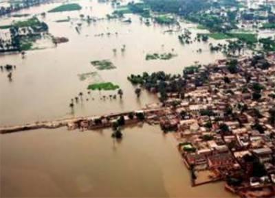 پنجاب اور سندھ میں سیلاب کی تباہ کاریاں جاری , صادق آباد میں بند ٹوٹنے سے بیس بستیاں زیرآب