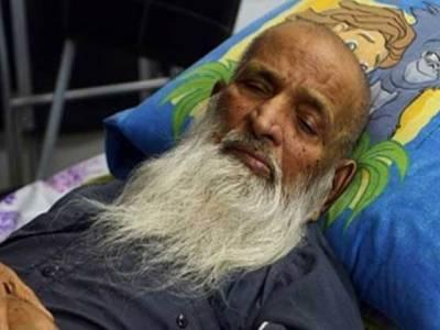 عبدالستار ایدھی کی طبیعت بگڑ گئی ,وینٹی لیٹر پر منتقل ، قوم سے صحت یابی کیلئے دعا ء کی اپیل