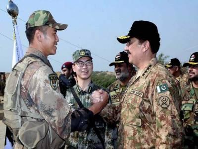 پاک چین فوجی مشقیں خطے سے دہشتگردی کے خاتمے میں مدد ملے گی: آرمی چیف