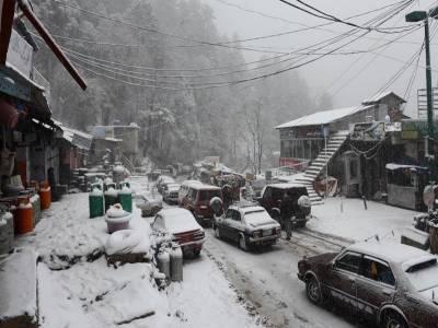 لواری ٹاپ پر پانچ دنوں میں 8 فٹ برف پڑی، ٹرانسپورٹ کا نظام درہم برہم
