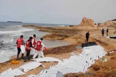 طرابلس، تارکین وطن کی74لاشیں بہہ کر سمندر کنارے آگئیں:عالمی ریڈ کراس