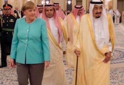 شاہ سلمان سے ملاقات میں جرمن چانسلر انجیلا مرکل کا سرڈھانپنے سے انکار