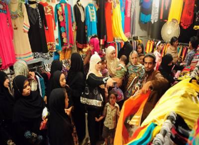 عید کی تیاریاں، لڑکیوں نے ریڈی میڈ گارمنٹس پر یلغار