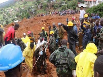 سیرالیون میں مٹی کے تودے گرنے سے ہلاکتوں کی تعداد 400ہوگئی