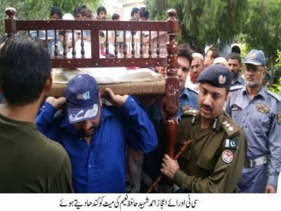 لاہور: ٹریفک وارڈن فرض کی ادائیگی کے دوران نامعلوم مزدا ٹرک کی ٹکر سے جاں بحق