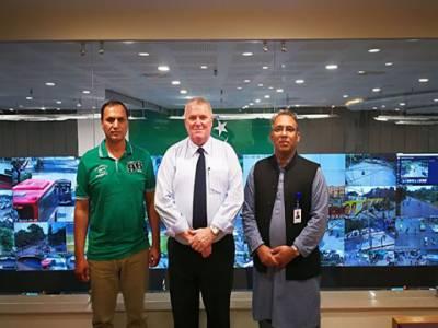 آئی سی سی سیکیورٹی کنسلٹنٹ اور ڈائریکٹر سیکیورٹی پی سی بی کا پنجاب سیف سٹیز اتھارٹی قربان لاہور ہیڈ آفس کا دورہ