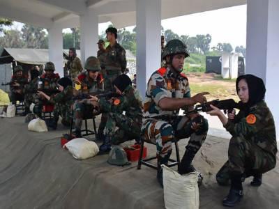 پہلی بار افغان فوجی خواتین کی بھارت میں تربیت شروع