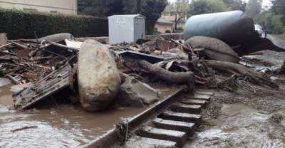 امریکی ریاست کیلیفورنیامیں کیچڑ کے سیلاب کے باعث 13 افراد ہلاک
