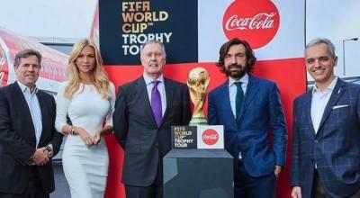 ورلڈ کپ : فیفا ٹرافی کا لندن سے عالمی سفر شروع
