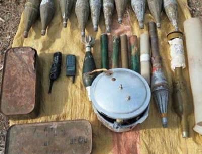 لوئراورکزئی ایجنسی : سکیورٹی فورسز کی کارروئی، زیرزمین چھپایا گیا اسلحہ کا ذخیرہ برآمد