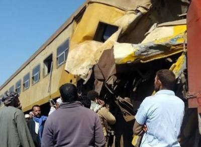 مصر:دو ٹرینوں کے تصادم میں 16 افراد ہلاک،40 زخمی
