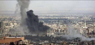 سلامتی کونسل کی اپیل کے باوجود شامی اور روسی افواج کی غوطہ شہرمیں بمباری جاری