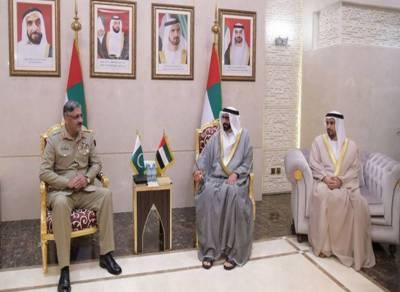 جنرل زبیر محمود حیات کی اماراتی افواج کے سربراہ سمیت اعلی حکام سے ملاقات