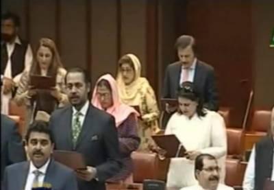 اسلام آباد:سینٹ کے51نومنتخب سینیٹرز نےحلف اٹھا لیا