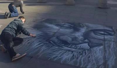 لندن کے مصور کا عبدالستار ایدھی کوخراج عقیدت