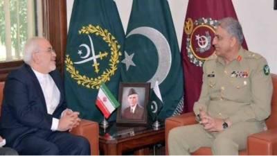 آرمی چیف جنرل قمر جاوید باجوہ سے ایرانی وزیرخارجہ جواد ظریف کی ملاقات
