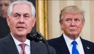 ٹرمپ نے امریکی وزیرخارجہ کو عہدے سے فارغ کر دیا،ریکس ٹلرسن کے ساتھ اختلافات تھے:امریکی صدر کا اعتراف