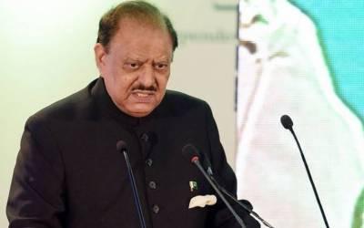 یوم پاکستان،امن اور ترقی کے مخالفین کو خیر سگالی کا پیغام دیتے ہیں:صدرمملکت ممنون حسین