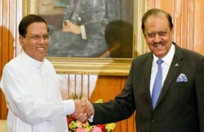 سری لنکا کے صدر میتھری پالا سری سینا کی صدر مملکت ممنون حسین سے ملاقات میں گفتگو