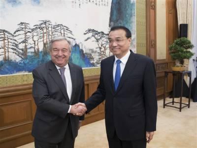 چین اور اقوام متحدہ کا آپس میں تعاون بڑھانے پر اتفاق