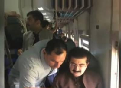 چیئرمین سینیٹ صادق سنجرانی 2روزہ دورے پر بذریعہ ٹرین لاہور پہنچ گئے