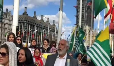 مودی کو لندن آمد پر متعدد مظاہروں کاسامنا