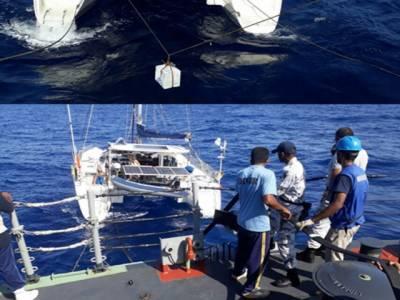 پاک بحریہ کے جہاز پی این ایس عالمگیر کی صومالیہ کی کھلے سمندر میں پرتگالی کشتی کو امداد کی فراہمی