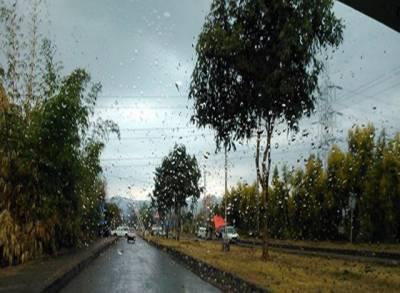 مختلف مقامات پر بارش کے بعد موسم خوشگوار ہوگیا , بارش کے بعد شہریوں کے چہرے کھل اٹھے