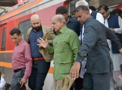 لاہور میں پاکستان کی پہلی میٹرو ٹرین کا کامیاب ٹیسٹ رن،وزیراعلی شہباز شریف نے افتتاح کیا