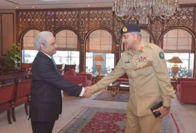 نگران وزیراعظم سے آرمی چیف کی ملاقات,نگران وزیراعظم کا عہدہ سنبھالنے پر مبارکباد