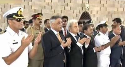 نگران وزیراعظم ناصرالملک کی کراچی آمد، مزار قائد پر حاضری