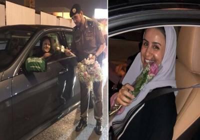 سعودی خواتین کیلئے تاریخ ساز دن,سعودی شاہراوں پر گاڑیاں دوڑاتی سعودی خواتین