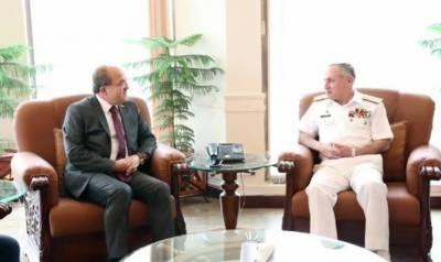 ترک قومی دفاع کے ڈپٹی منسٹر کی نیول چیف ظفر محمود عباسی سے ملاقات