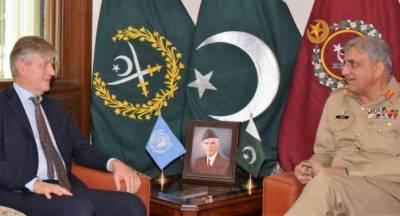 پاکستان عالمی امن کے سب سے زیادہ سپاہ فراہم کرنے والا ملک ہے, اقوام متحدہ کی چھتری تلے دنیا میں قیام امن کے لیےاپنا مثبت کردار ادا کرتے رہیں گے: آرمی چیف