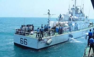 سری لنکن بحریہ نے 12 بھارتی ماہی گیر گرفتار کرلئے