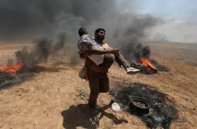 اسرائیلی فوج کی فائرنگ اور شیلنگ سےایک فلسطینی شہید اور 400 افراد زخمی ہو گئے