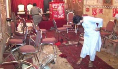 پشاور :خودکش حملہ میں اے این پی امیدوار ہارون بلور سمیت 20 افراد شہید