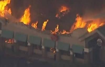 امریکہ:فوڈ سٹور میں آتشزدگی سے عمارت تباہ