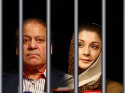 شہباز شریف اور فیملی کی نوازشریف اور مریم نواز سے جیل میں ملاقات
