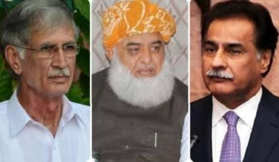 الیکشن کمیشن: نازیبا زبان کے استعمال پرفضل الرحمان، ایاز صادق اور پرویز خٹک کو حلف نامہ جمع کرانے کا حکم