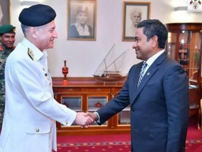 پاک بحریہ کے سربراہ کی مالدیپ کے صدرسے ملاقات ،دو طرفہ بحری تعلقات کے فروغ کا اعادہ