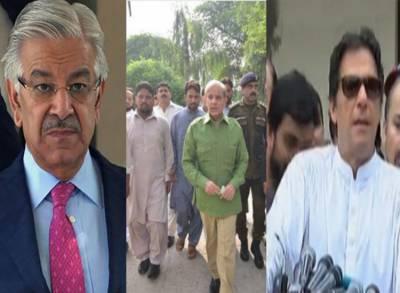 الیکشن کمیشن نے عمران خان، شہبازشریف اور خواجہ آصف کی ٹی وی ٹاک کا نوٹس لے لیا