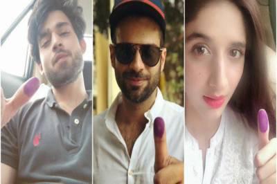 اسٹارز جنہوں نے ووٹ دے کر اپنا قومی فریضہ پورا کردیا