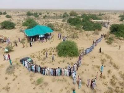 تپتے صحرا میں پاکستان کا پہلا اور واحد پولنگ اسٹیشن