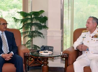 وزیرِ دفاع کی پاک بحریہ کے سربراہ ایڈمرل ظفر محمود عباسی سے ملاقات
