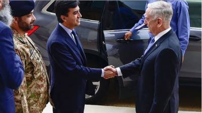 پاکستانی سفیرعلی جہانگیر صدیقی کا دورہ پنٹاگون،امریکی وزیر دفاع سے ملاقات